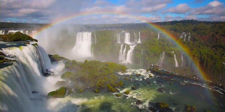 Iguazu Falls with Rainbow