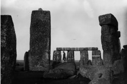 a visitor at Stonehenge (General Photographic Agency/Getty)