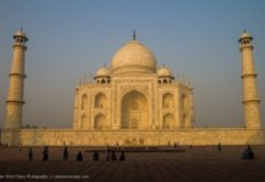 After the sunshine features lit the Taj Mahal, picture by Peter West Carey