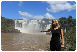 iguazu drops dani with falls